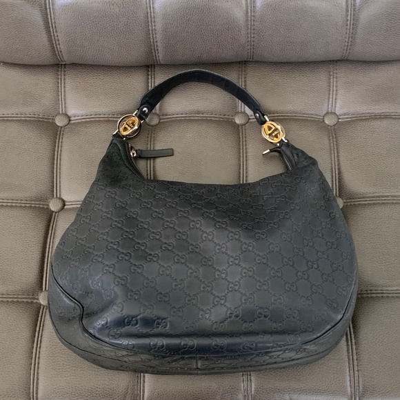 bc758933a7fb0b Gucci Bags | Auth Gg Ssima Twins Large Hobo Black | Poshmark